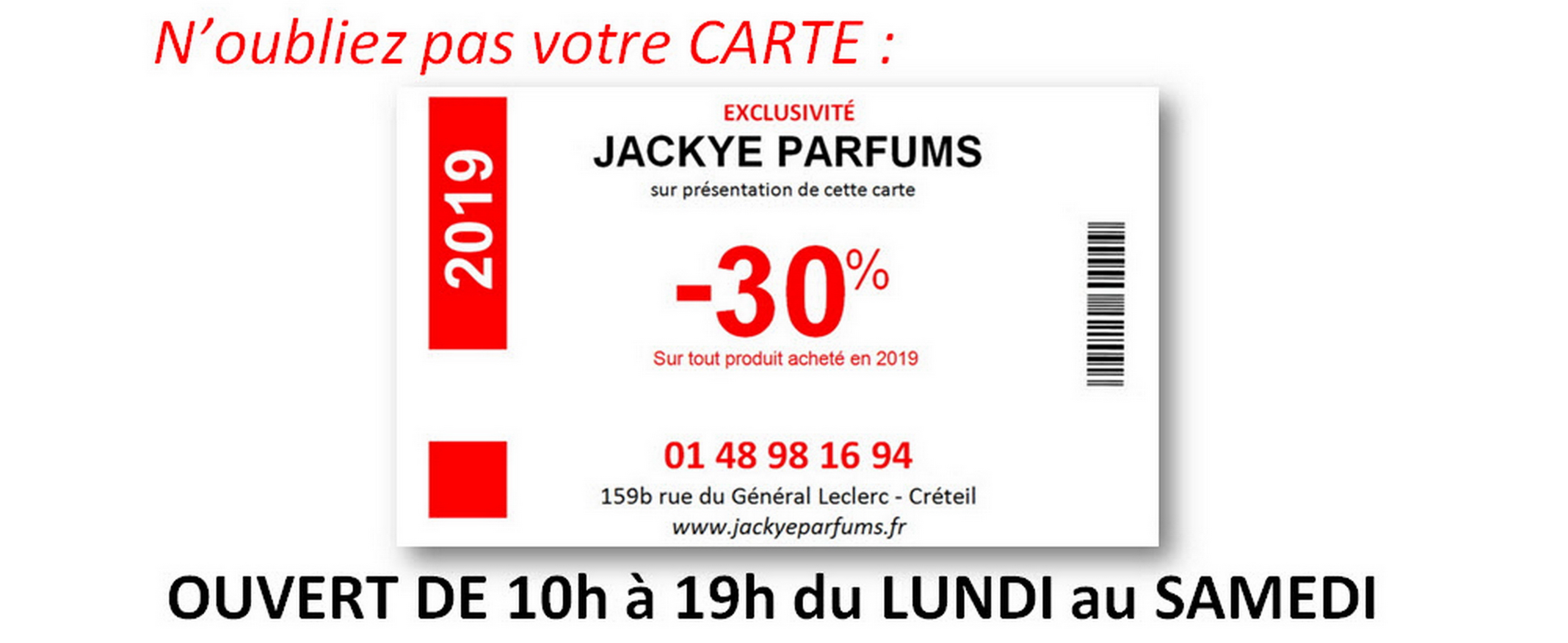 Carte de réduction -30%